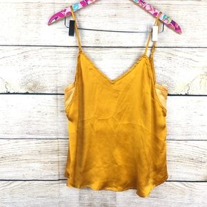 Anthro Floreat 100% silk tank size S